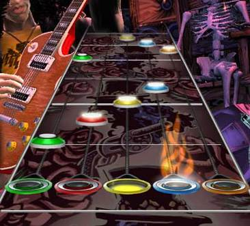 Guitar Hero Game Screen